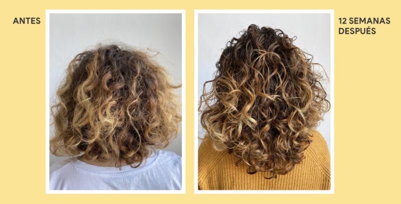 antes después curly method soivre